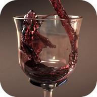 Verre de vin d'écran animé