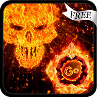 GO Keyboard Fire Skull Theme