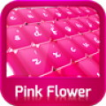 GO Keyboard Pink Flower Theme