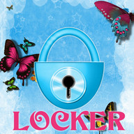 Theme Blue Butterfly GO Locker