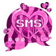 Motif cœur Zebra rose GO SMS