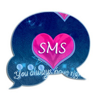 Tema Blue merah jambu GO SMS Pro