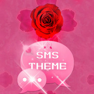 Tema rose pink lucu GO SMS