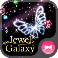 Night sky Wallpaper Jewel Galaxy Tema