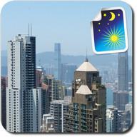 Panorama Hong Kong dia y noche
