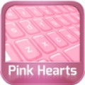 Keyboard Pink Hearts
