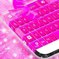 Tema Keyboard Hot Pink Theme