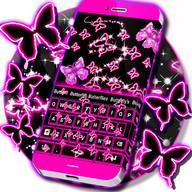 Neon Butterflies Teclado