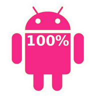Pink Android Battery