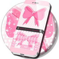 Pink Bow Keyboard Theme