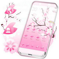Pink Cherry GO Launcher Theme
