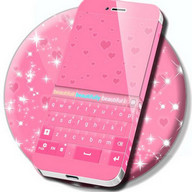 Pink Hearts Keyboard Theme