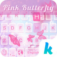 Pink Butterfly Keyboard Theme