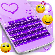 Purple Glow Keyboard Free