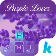 Purple Love Emoji Keyboard
