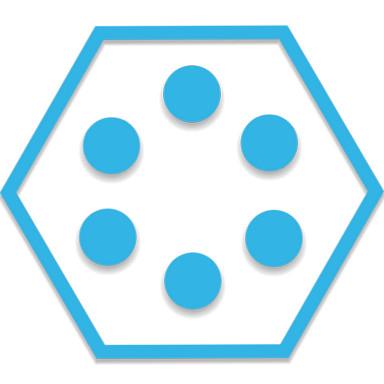 SL Theme Holo Blue Hexagon