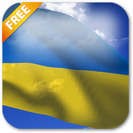 3D Ukraine Flag Live Wallpaper