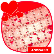 Animated Red Hearts Keyboard Theme