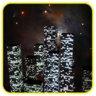 3D Night City Clock