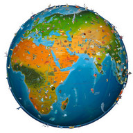 world map atlas 2018