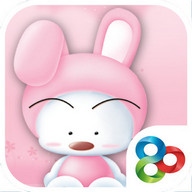 babu pink launcher theme