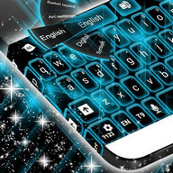 Keyboard Neon Blue Theme