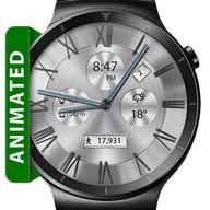 Classic White HD Watch Face & Clock Widget