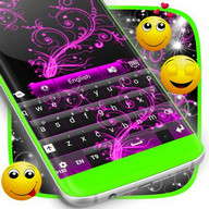 Color Keyboard Neon Pink
