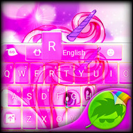 Cute Pink Unicorn Keyboard