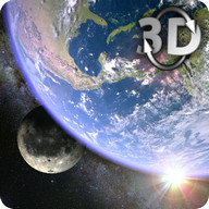 Earth & Moon in HD Gyro 3D Parallax Live Wallpaper