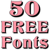 Free Fonts 50 Pack 12