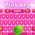 GO Keyboard Pink Key Theme