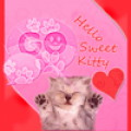 GO SMS Pink Theme Kitty