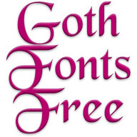 Goth Fonts for FlipFont free