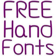 Hand Fuentes para FlipFont®