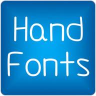 Hand2 fonts for FlipFont® free