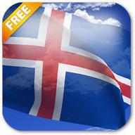 3D Iceland Flag Live Wallpaper