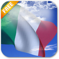 3D Italy Flag Live Wallpaper