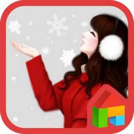 러블리걸(눈와요) 도돌런처 테마 lovely girl snowing