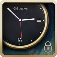 Luxury Clock CM Locker Theme