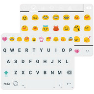 Material White Emoji Keybaord - How about if we fix up your Emojis?