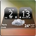 MIUI Dark Digital Weather Clock