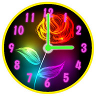 Неонові Квіти Годинник