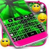 Neon teclado verde