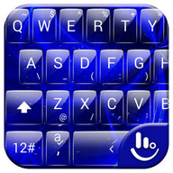 Keyboard Theme G Blue Galaxy