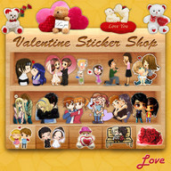 Valentine's Stickers,Smileys,Posters and Wallpaper