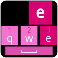 WP Dark Pink Keyboard Skin