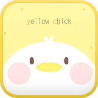 Yellow Chick go launcher theme
