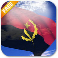 3D Angola Flag Live Wallpaper