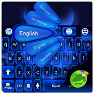 Glow Blue GO Keyboard Theme